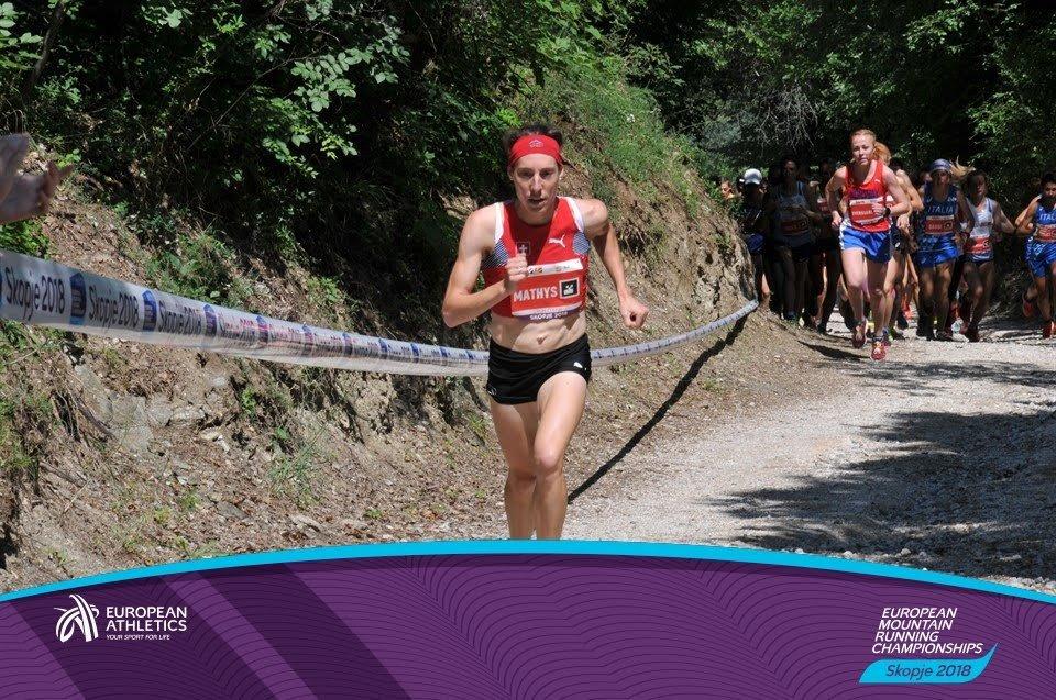 Championne d'europe de course de montagne